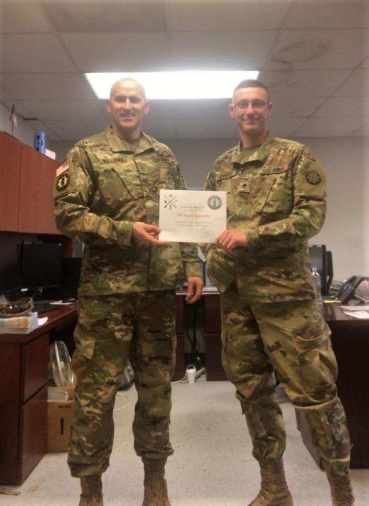 SPC Hennecke, Ryan FIT-P graduation Pic