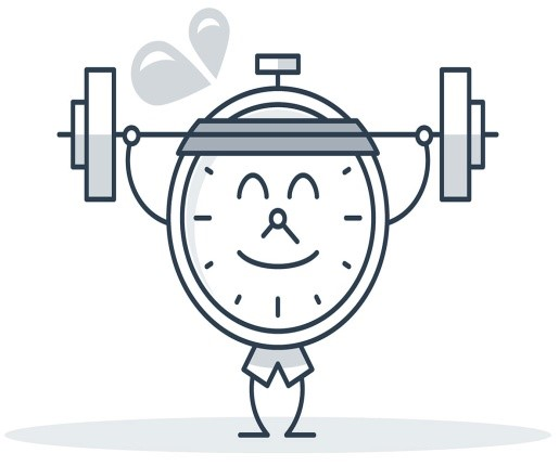 clock barbell
